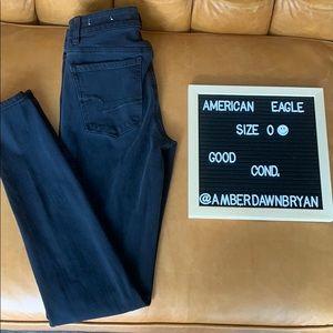 Black American Eagle Jeans, size 0!